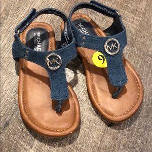 Michael Kors toddler denim sandals